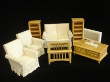 8-Pc. True Oak Modern Living Room Set