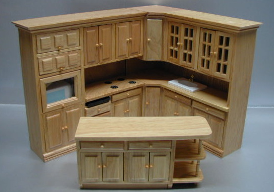 True Oak 3-Pc Upper and Lower Kitchen set