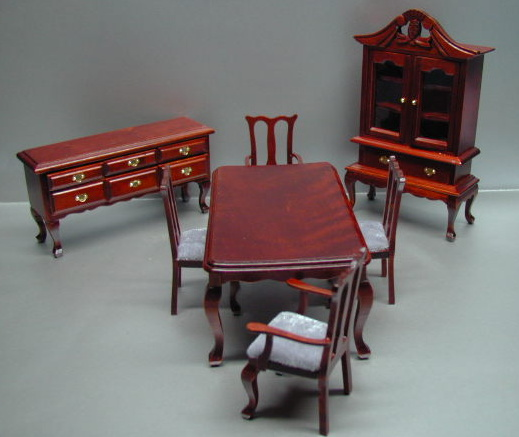 7-Pc Mahogany Dining Set